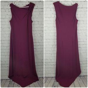 SL FASHIONS | long asymmetrical neckline dress